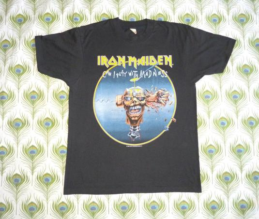 Iron Maiden 1988 Can Play With Madness Vintage T Shirt Dates