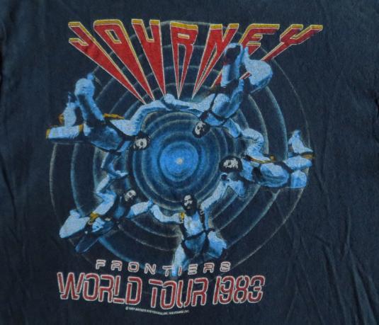 Journey 1983 Tour Vintage Concert T Shirt Frontiers