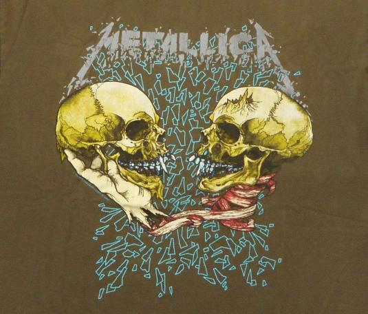 Metallica 1991 Black Tour Vintage T Shirt Sad But True Olive