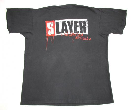 Slayer 1996 Undisputed Attitude Tour Vintage T Shirt Skull