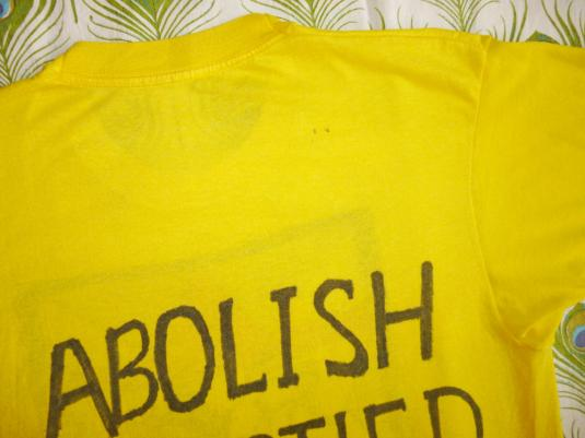 Rastafari Flag 80's Vintage T Shirt Rasta Abolish Apartheid