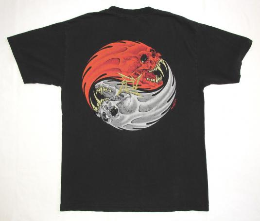 Metallica 90's Rebel Tour Vintage T Shirt Pushead Skull