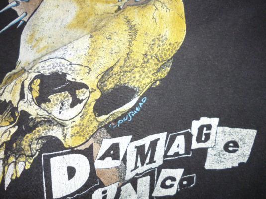 Metallica 1986 Damage Inc Vintage T Shirt Pushead