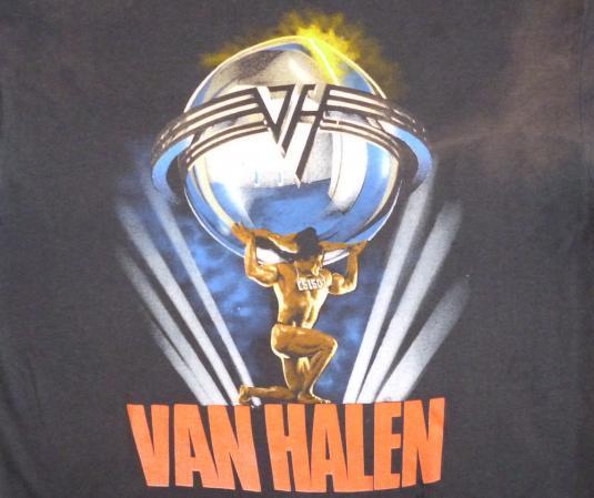 Van Halen 1986 5101 Vintage T Shirt Van Hagar