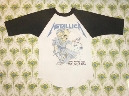Metallica 1988 Justice For All Vintage T Shirt Jersey Doris