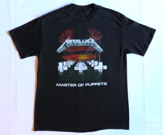 Metallica 80's Master Of Puppets Tour Vintage T Shirt Garage