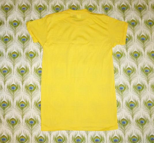 Blank Yellow 70's Vintage T Shirt Deadstock JcPenney