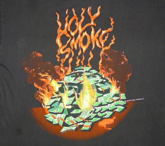 Iron Maiden 1990 Holy Smoke Vintage T Shirt No Prayer Dying