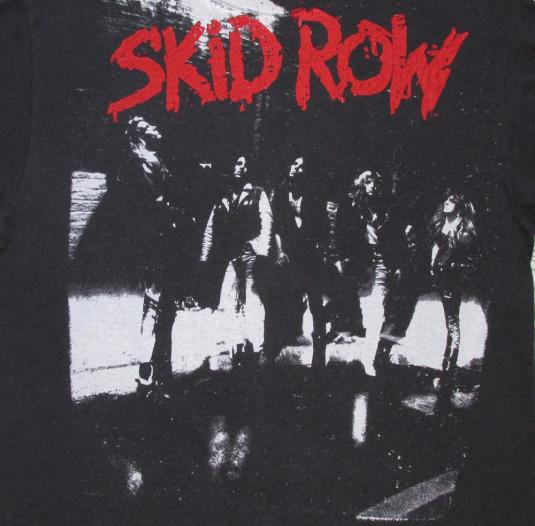 Skid Row 1989 Makin' A Mess Of The US Vintage T Shirt 80's