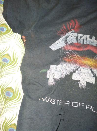 Metallica 1986 Master Of Puppets Vintage T Shirt Dates