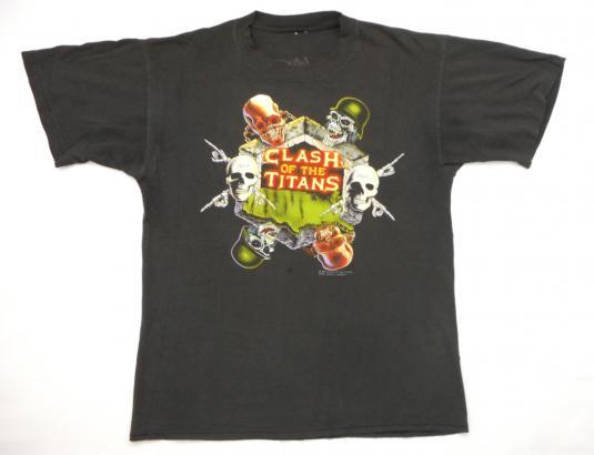 Clash Of The Titans '91 Slayer Tour Vintage T Shirt Megadeth