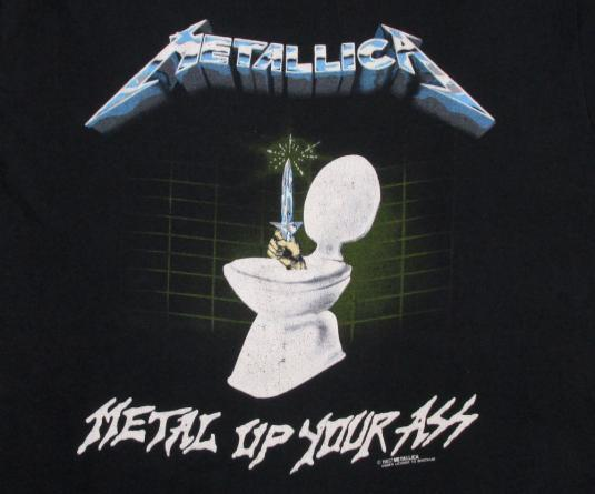 Metallica 1987 Metal Up Your Ass Vintage T Shirt Glows 80's