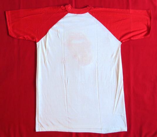 Rolling Stones 80's Tongue Logo Tour Vintage T Shirt Raglan