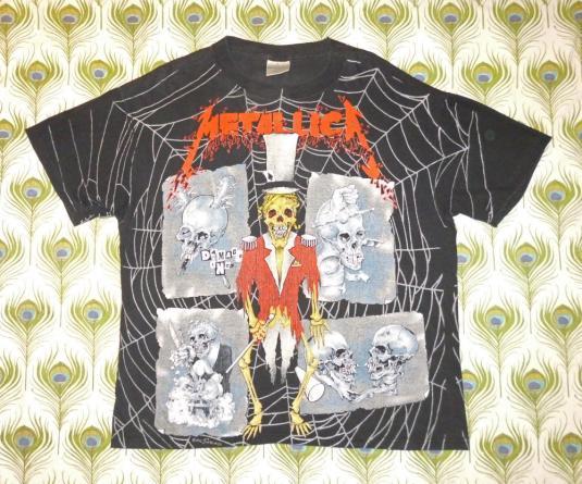 Metallica 1992 Ringmaster Vintage T Shirt Pushead Allover
