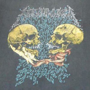 Metallica 1991 Black Tour Vintage T Shirt Sad But True