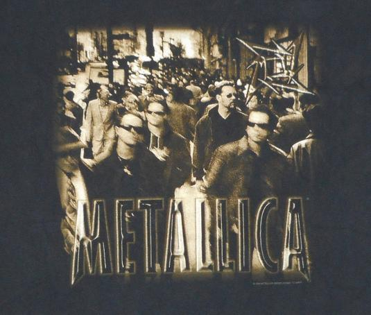 Metallica 1996 Load Tour Vintage T Shirt NY City Streets XL