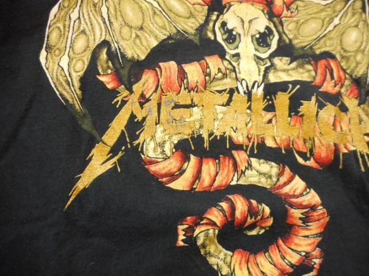 Metallica 90's Pushead Roam Vintage T Shirt 1991 Concert