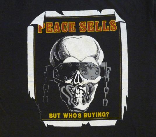 Megadeth 1987 Peace Sells Vintage T Killing Is My Business