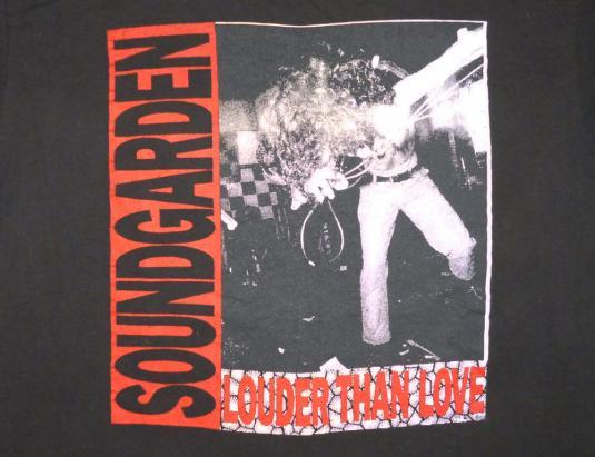Soundgarden 1990 Louder Than Love Vintage T Shirt Godhead