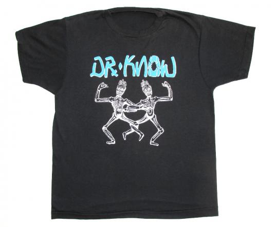 Dr. Know 1987 The Island Earth Vintage T Shirt Thrash Punk