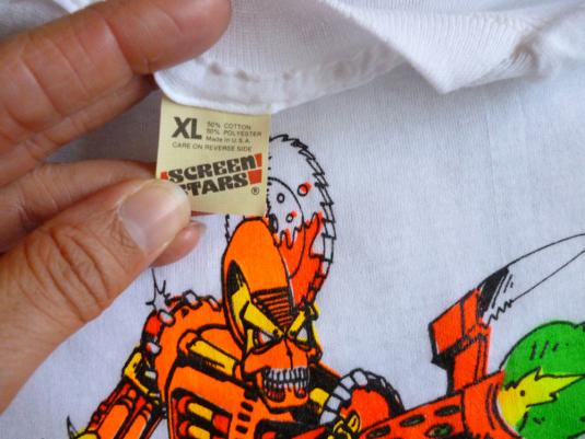 Thrill Kill 80's Sci-Fi Art Vintage T Shirt Deadstock XL