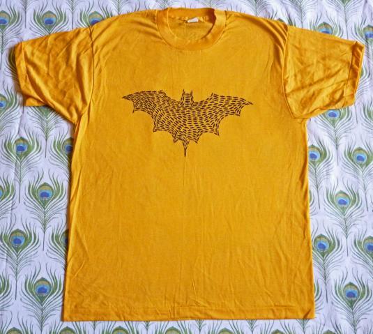 Batman Signal 80's Bat Logo Vintage T Shirt Deadstock 80's