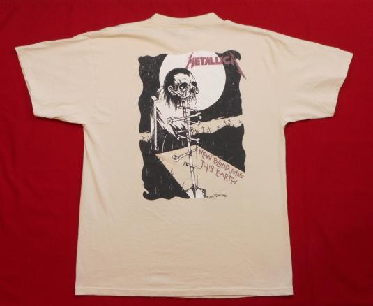Metallica 90's Gravekeeper Tour Vintage T Shirt Roam Pushead