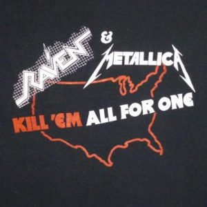 Raven & Metallica 1983 Kill 'Em All Vintage T Shirt Dates