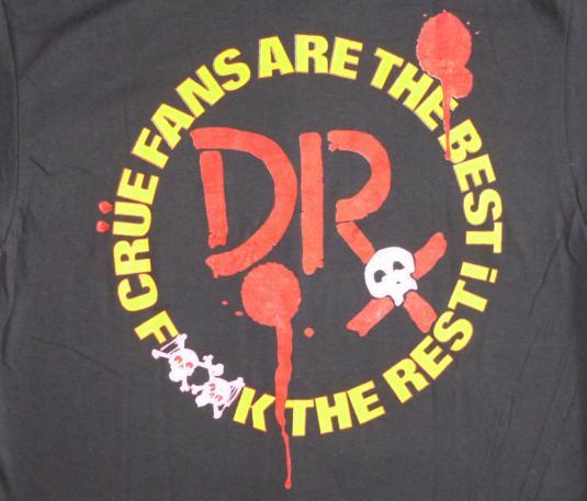 Motley Crue 1989 Dr Feelgood Vintage T Shirt Fans Deadstock