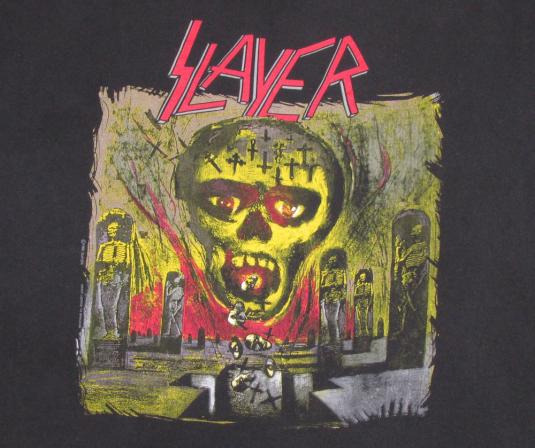 Slayer 1991 Seasons In The Abyss Vintage T Shirt Concert