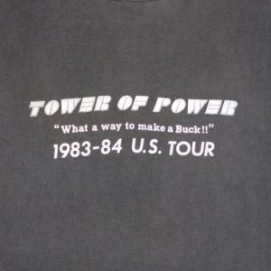 Tower Of Power 1983 Vintage T Shirt US Tour Concert 80's