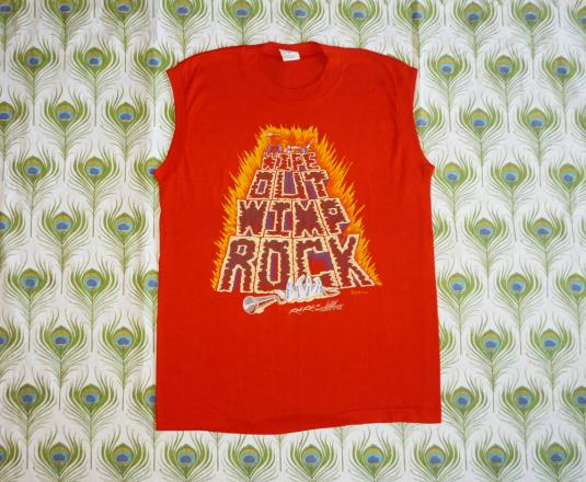 Wipe Out Wimp Rock Vintage T Shirt 80's Glows In Dark Humor