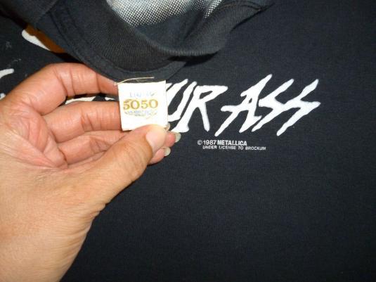 Metallica 1987 Metal Up Your Ass Vintage T Shirt Glows