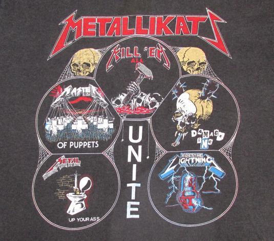 Metallica 1987 Garage Days Vintage T Shirt Metallikatz L