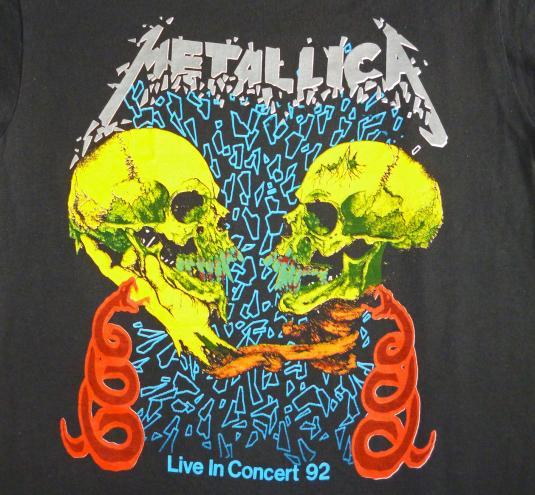 Metallica 1992 Sad But True Vintage T Shirt Black