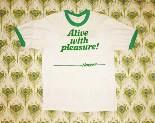 Newport Cigarettes 80's Vintage T Shirt Alive With Pleasure