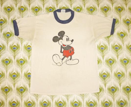 Mickey Mouse 80's Ringer Vintage T Shirt Disney Fashions