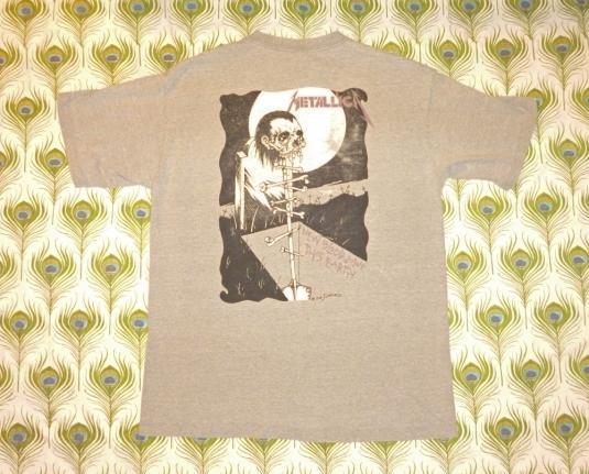 Metallica 1994 Gravekeeper Roam Vintage T Shirt Pushead