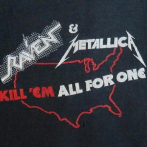 Raven & Metallica 1983 Black Tour Vintage T Shirt Dates