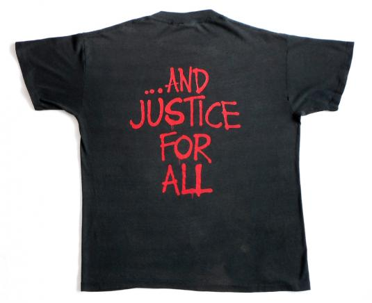 Metallica 1988 Justice For All Tour Vintage T Shirt Group