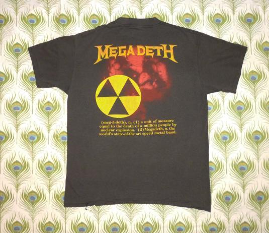 Megadeth 1987 Peace Sells Vintage T Shirt Vic Nuclear