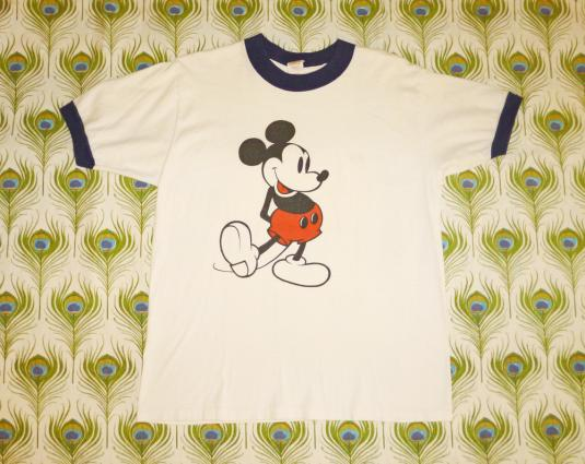 Mickey Mouse 70's Ringer Vintage T Shirt Walt Disney Product