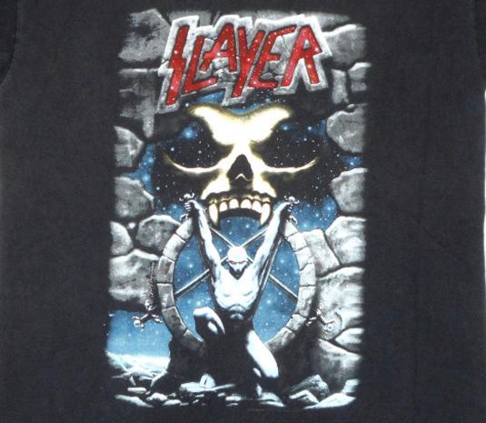 Slayer 90's Live Intrusion Tour Vintage T Shirt Concert '95