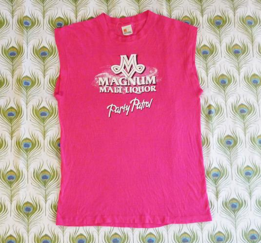 Magnum Malt Liquor 80's Vintage T Shirt Party Patrol Beer
