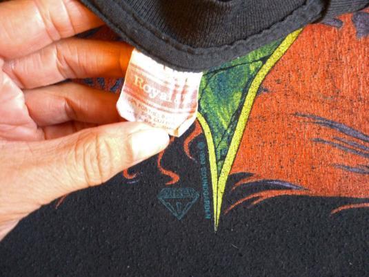 Soundgarden 1990 Louder Than Love Vintage T Shirt Fire Logo