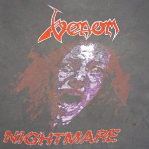 Venom 1986 Nightmare Vintage T Shirt 80's