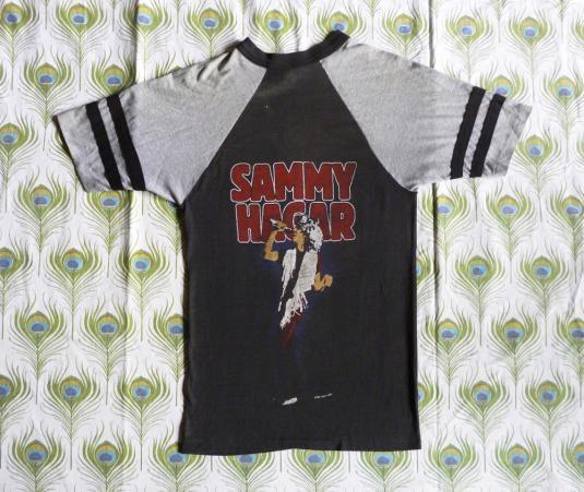 Sammy Hagar 1983 Raglan Vintage T Shirt Three Lock Box Tour