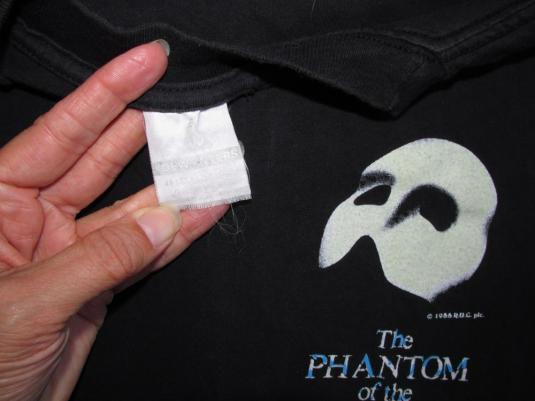 Phantom Of The Opera 1988 Vintage T Shirt London Glows 80's