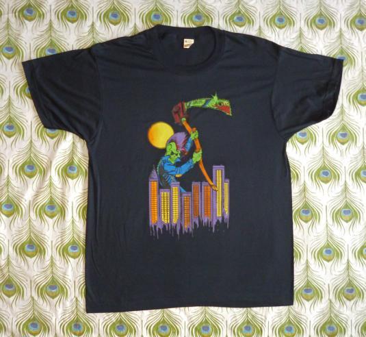 Grim Reaper 80's Sci-Fi Art Vintage T Shirt Deadstock XL