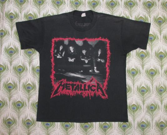 Metallica 1990 Justice For All Vintage T Shirt Europe DATES